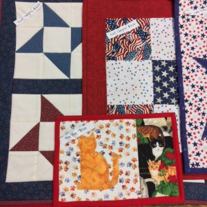 quilt blocks created by the Bellwood Quilting Bees